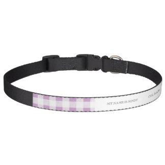 Motif blanc lilas de guingan colliers de chiens