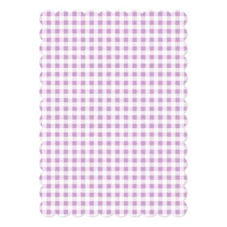 Motif blanc lilas de guingan carton d'invitation  12,7 cm x 17,78 cm