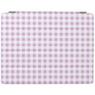 Motif blanc lilas de guingan protection iPad