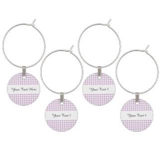 Motif blanc lilas de guingan marque-verres