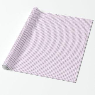 Motif blanc lilas de guingan papiers cadeaux noël