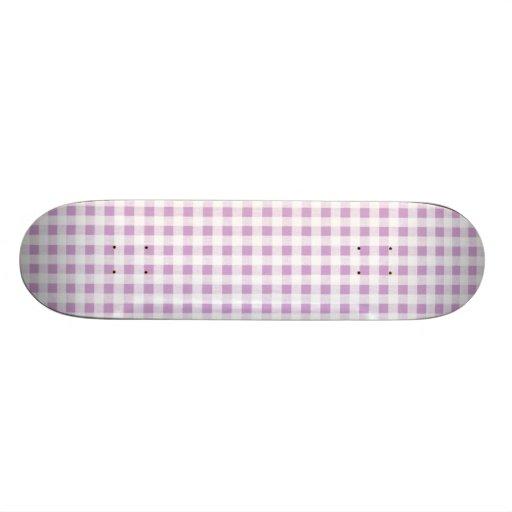 Motif blanc lilas de guingan plateaux de skateboards