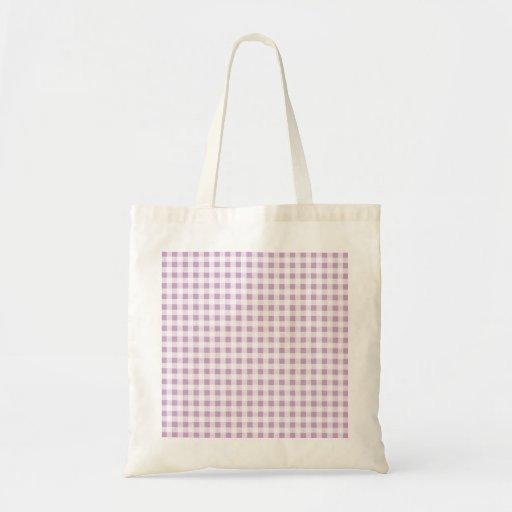 Motif blanc lilas de guingan sac
