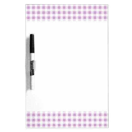 Motif blanc lilas de guingan tableau effaçable à sec