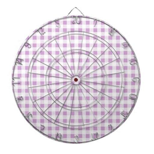 Motif blanc lilas de guingan jeux de fléchettes