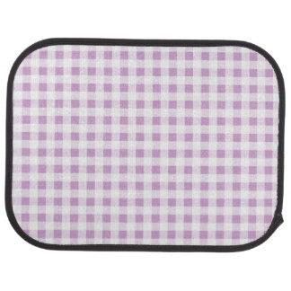 Motif blanc lilas de guingan tapis de voiture