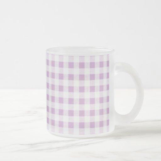 Motif blanc lilas de guingan tasse