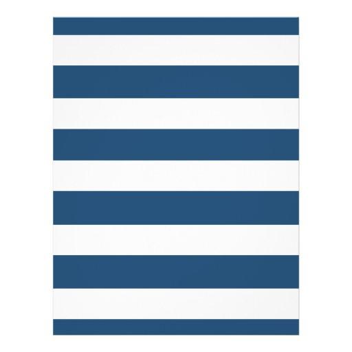 Motif Blanc Moderne De Rayures De Bleu Marine Prospectus Zazzle