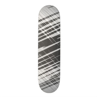 Motif blanc noir abstrait moderne de rayures skateboards customisés