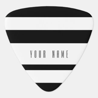 Motif blanc noir moderne de rayures onglet de guitare