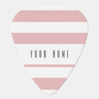 Motif blanc rose moderne de rayures onglet de guitare