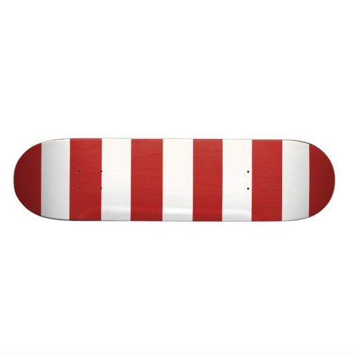 Motif blanc rouge moderne de rayures skateboards personnalisés