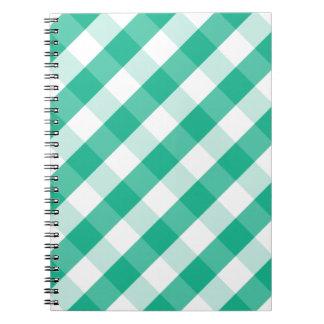 Motif blanc vert simple de guingan de St Patrick Carnet