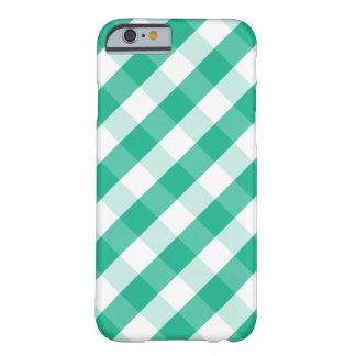 Motif blanc vert simple de guingan de St Patrick Coque iPhone 6 Barely There
