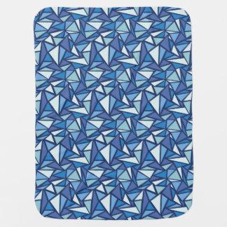 Motif bleu abstrait de Crsytal de glace Couvertures De Bébé