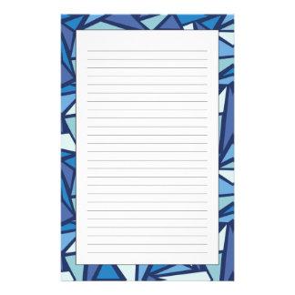 Motif bleu abstrait de Crsytal de glace Papeterie