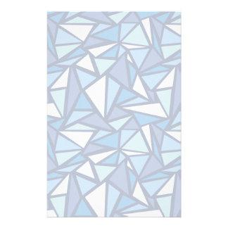 Motif bleu abstrait de Crsytal de glace Papier À Lettre
