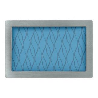 Motif bleu boucles de ceinture rectangulaires