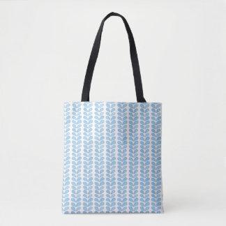 Motif bleu-clair simple de symbole d'aquarelle tote bag