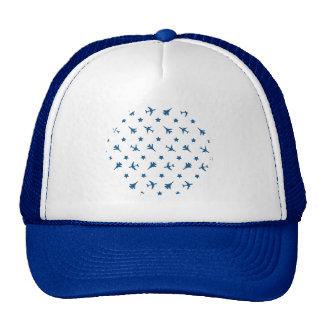 Motif bleu d'avions casquette
