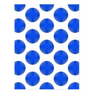 Motif bleu de boule de golf carte postale