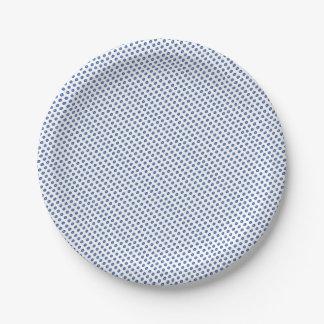 Motif bleu de boules en verre assiettes en papier