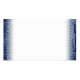 Motif bleu de circuit de carte mère de geek carte de visite standard