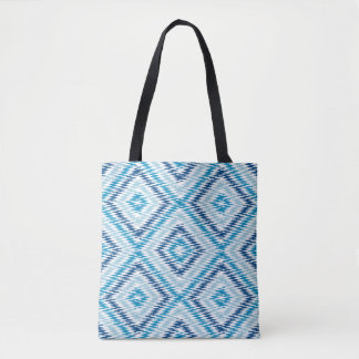 Motif bleu de diamant sac