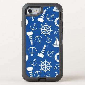 Motif bleu de mer coque otterbox defender pour iPhone 7