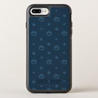 Motif bleu de monstre de biscuit et de marine de coque OtterBox symmetry iPhone 8 plus/7 plus