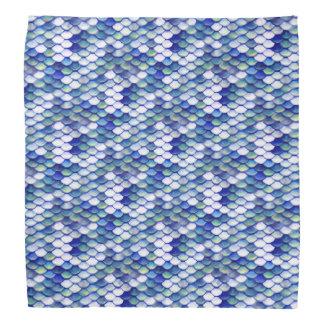 Motif bleu de peau de sirène bandana
