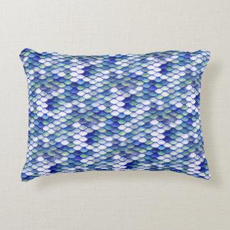 Motif bleu de peau de sirène coussins décoratifs