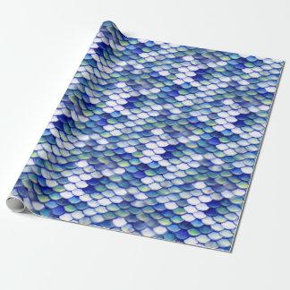 Motif bleu de peau de sirène papiers cadeaux