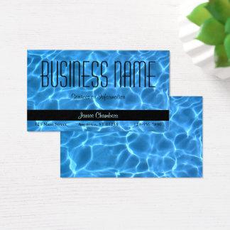 Motif bleu de piscine cartes de visite