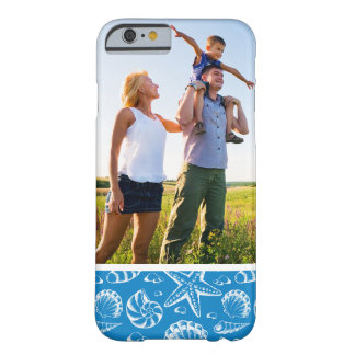 Motif bleu de plage de photo faite sur commande coque iPhone 6 barely there