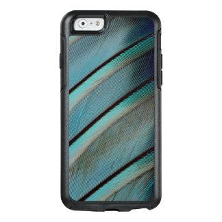 Motif bleu de plume coque OtterBox iPhone 6/6s