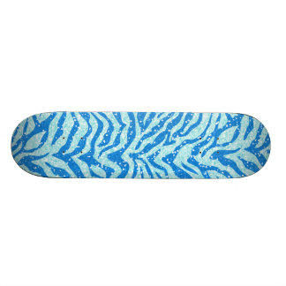 Motif bleu de rayure de zèbre d'impression de planches à roulettes customisées