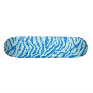 Motif bleu de rayure de zèbre d'impression de skateboards personnalisables
