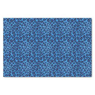motif bleu de texture de léopard papier mousseline