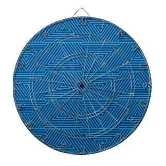 motif bleu de triangle jeux de fléchettes
