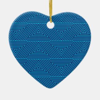 motif bleu de triangle ornement cœur en céramique