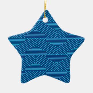 motif bleu de triangle ornement étoile en céramique