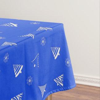 motif bleu de vacances de Noël Nappe