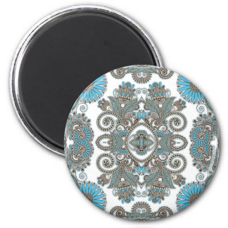 Motif bleu décoratif aimant