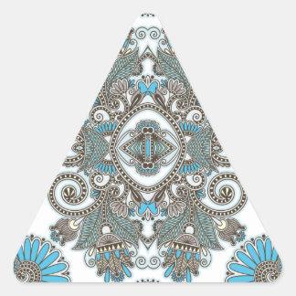 Motif bleu décoratif sticker triangulaire
