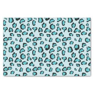 Motif bleu d'empreinte de léopard papier mousseline