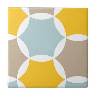 Motif bleu d'hexagone de jaune géométrique de carreau