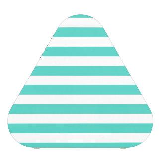 Motif bleu et blanc turquoise de rayure haut-parleur bluetooth