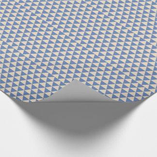 Motif bleu et crème de triangle papier cadeau