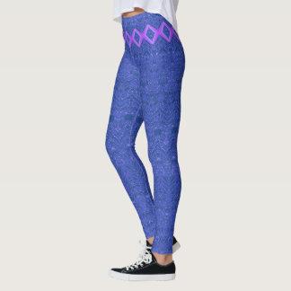 Motif bleu et pourpre d'abrégé sur diamant leggings